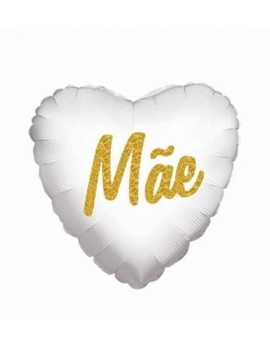 Balão Foil 18 Mãe Glitter Branco
